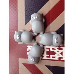 4 con mochi squishy mèo xám