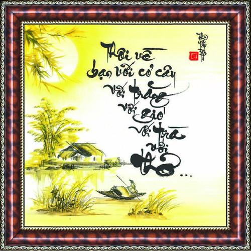 Tranh Thư Pháp Vẽ Tay VỀ VỚI THƠ - 10440969 , 7089024 , 15_7089024 , 509000 , Tranh-Thu-Phap-Ve-Tay-VE-VOI-THO-15_7089024 , sendo.vn , Tranh Thư Pháp Vẽ Tay VỀ VỚI THƠ