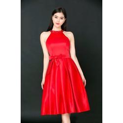 Đầm Xòe Cổ Yếm Đính Đá NS087