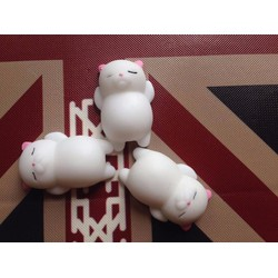 3 con mochi squishy mèo tai hồng