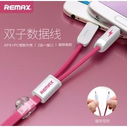 Dây Cáp Sạc Remax cao cấp 2 in 1 dành cho iphone và android