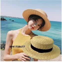 Nón mũ cói rơm đi biển chống nắng