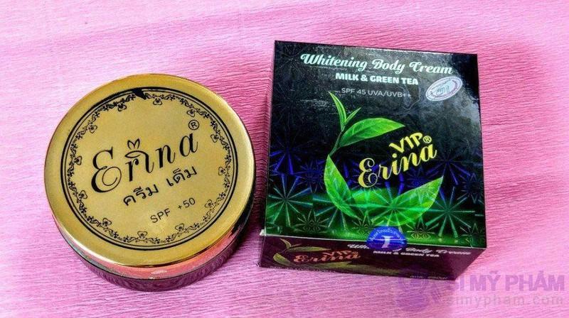 Kem dưỡng trắng da body Erina Whitening Body trà xanh 4