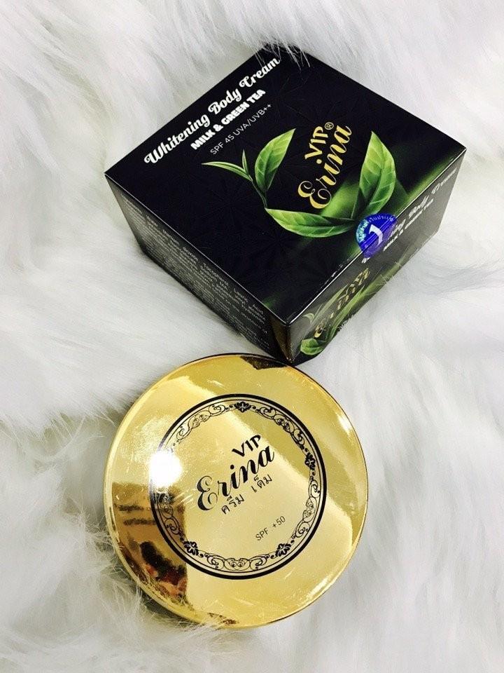 Kem dưỡng trắng da body Erina Whitening Body trà xanh 2