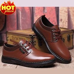 Giày Nam Da Thật Cao Cấp - Kiểu Dáng Trẻ Trung, Mạnh Mẽ, Nam Tính