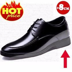 Giày Tăng Chiều Cao Da Thật - Tăng Ngay 8Cm - Hàng Nhập