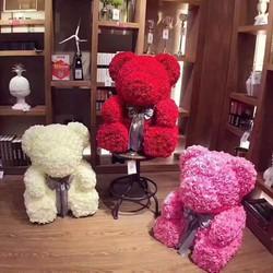 Gấu hoa handmade tặng người thương