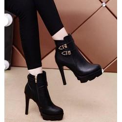 Giày boot nữ phong cách Hàn Quốc B083