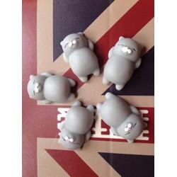 5 con mochi squishy mèo xám