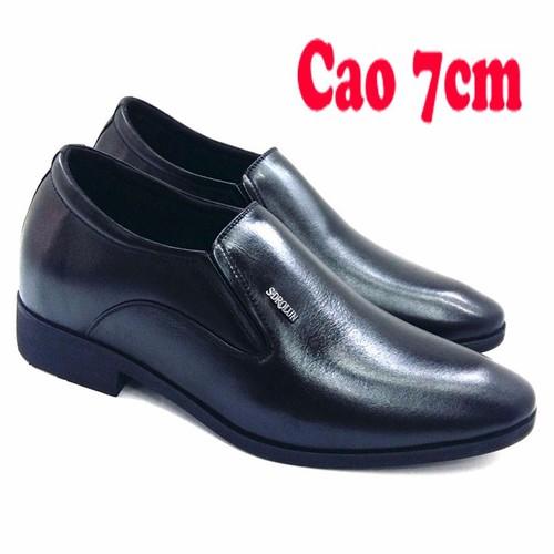 Giày Tăng Chiều Cao Da Bò Thật AD25588D