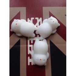 3 con mochi squishy mèo trắng