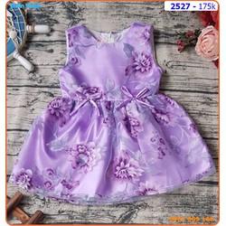 Đầm công chúa hoa tím nhẹ nhàng và yêu kiều cho bé