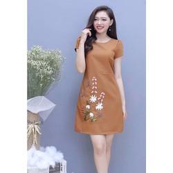 Đầm xòe nữ in hoa HN11914