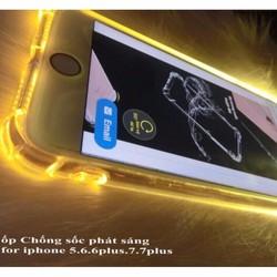 Ốp lưng chống sốc phát sáng trong suốt cho iPhone