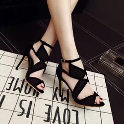 Giày nữ cao gót phối màu nữ tính rất đẹp và sang 9,5cm