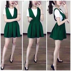 Đầm yếm kèm áo rời
