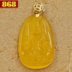 Mặt dây chuyền Phật bản mệnh Bất Động Thiên Vương 3.6 cm vàng