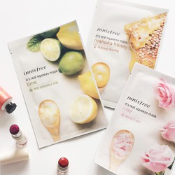 COMBO 5 MẶT NẠ GIẤY INNISFREE ITS REAL SQUEEZE MASK