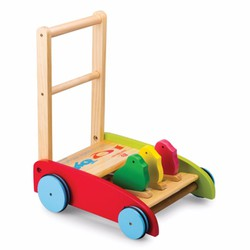 Xe tập đi bằng gỗ, Xe tập đi cho bé 3 con gà