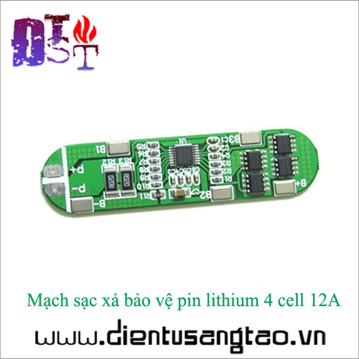 Mạch sạc xả bảo vệ pin lithium 4 cell 12A