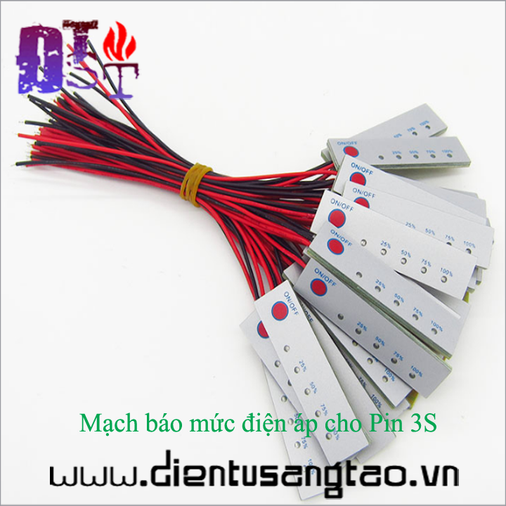 Mạch báo mức điện áp cho Pin 3S 1
