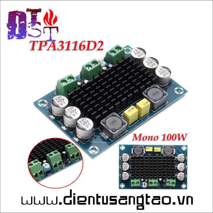 Mạch khuếch đại âm thanh ClassD Mono 100W -Không chiết áp 1