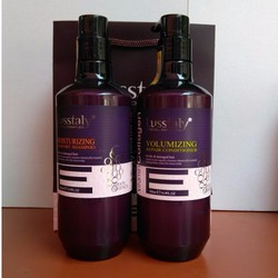 Gội xả cao cấp Lusstaly Collagen Vitamin E 500ml - Ý