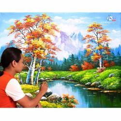 Học vẽ tranh pong cảnh online, dạy vẽ bằng video hướng dẫn chi tiết...