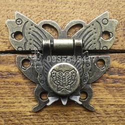 Khóa hộp 10 Hình bướm xuân Cổ điển - KT:50x45 mm