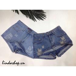 Quần váy jean ngắn nữ