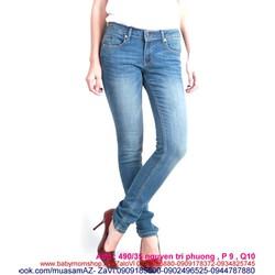 Quần jean xanh nhạt dài kiểu ống ôm thời trang và sành điệu QD246