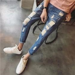 quần jeans nam rách vảy mực Mã: ND0993