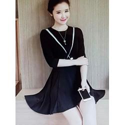 Đầm thun nữ kiểu dáng dể thương, phong cách trẻ trung.