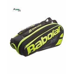 Bao vợt Babolat Pure Black Fluo Yellow 6 Pack Bag