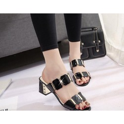 dép nữ đế vuông - dép nữ cao gót 5cm - dép thời trang 2017 - giày dép