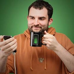 Ly đổi màu cục pin đang sạc Màu đen cung cấp bởi WinWinShop88