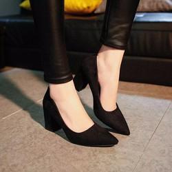 Giày cao gót da lộn