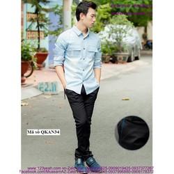 Quần kaki nam Hàn Quốc túi viền màu trẻ trung sành điệu QKAN34
