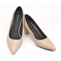 Giày Nữ | Giày Cao Gót bít mũi nhọn gót vuông