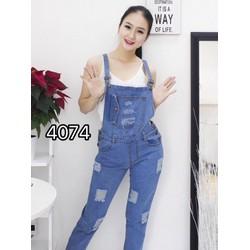 Yếm jean nữ rách bụi bẩm cá tính TTYJ024
