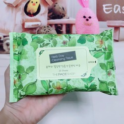 Khăn ướt tẩy trang Herb Day Cleansing Tissue The Face Shop
