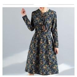 ĐẦM HOA TAY DÀI CAO CẤP dress519