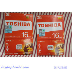 Thẻ nhớ TOSHIBA Micro SD 16Gb Class 10