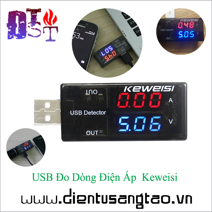 USB Đo Dòng Điện Áp  Keweisi 1