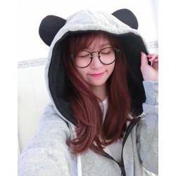 Ao khoác nỉ tai gấu siêu dễ thương