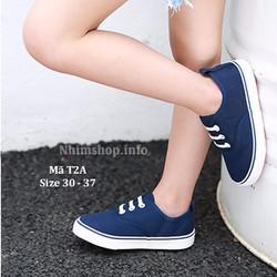 Giày học sinh nam 5 -12 tuổi T2A xanh