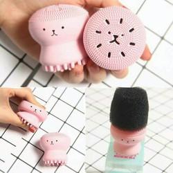 Bạch tuộc rửa mặt và masage mặt