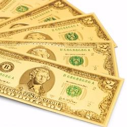 COMBO 09 TỜ 2 USD HOẶC 100 USD PLASTIC MẠ MAY MẮN - LỘC ĐẦU XUÂN