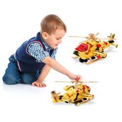 Máy bay trực thăng quân sự vui nhộn cho bé