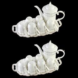 Combo 2 Bộ ấm chén bát tràng pha trà men sần  sứ trong cao cấp L0 22-1